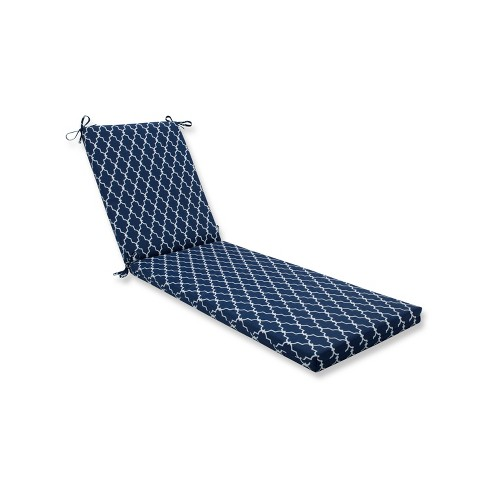 Indoor/Outdoor Garden Gate Navy Chaise Lounge Cushion - Pillow Perfect - image 1 of 1