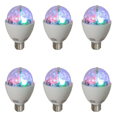 AudioPipe ZYB-13S Zebra Sound LED 5 Volt 1 Watt DC Motor Magic Disco Light Bulb (6 Pack)
