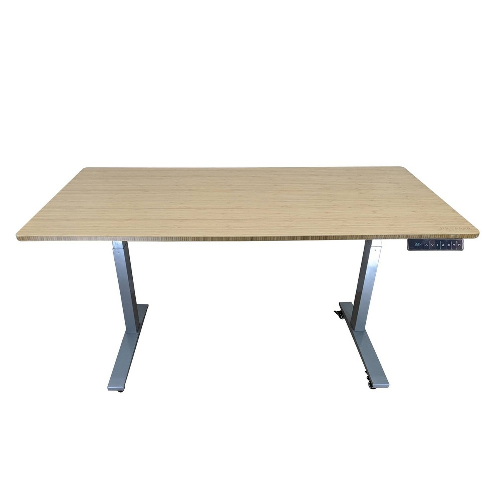 "Image of ""60""""x30"""" Adjustable Standing Desk Gray - Uncaged Ergonomic"""