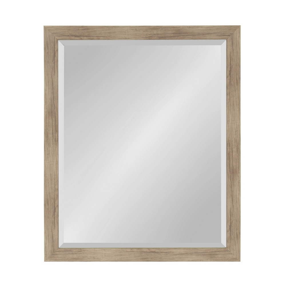 """Image of """"25""""""""x31"""""""" Beatrice Framed Wall Mirror Rustic Brown - Kate and Laurel"""""""