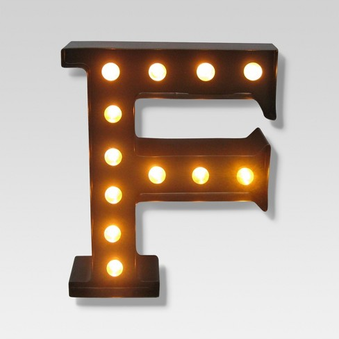 metal marquee letter small led threshold
