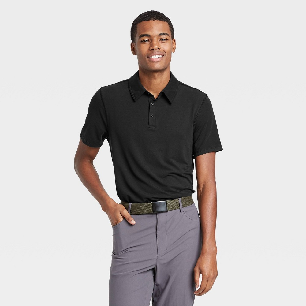 Men's Pique Golf Polo Shirt - All in Motion Black XXL was $22.0 now $12.0 (45.0% off)