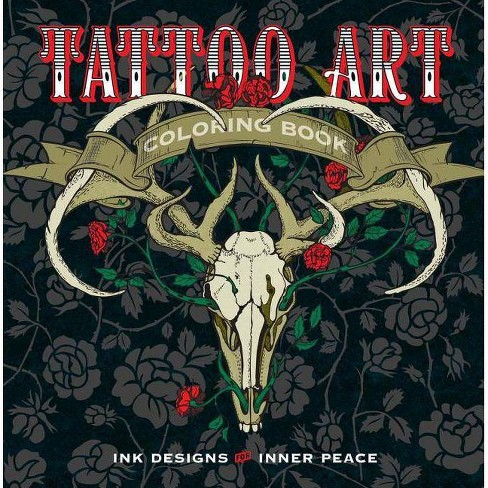 Tattoo Art Coloring Book - (Serene Coloring) by  Lark Crafts (Paperback) - image 1 of 1