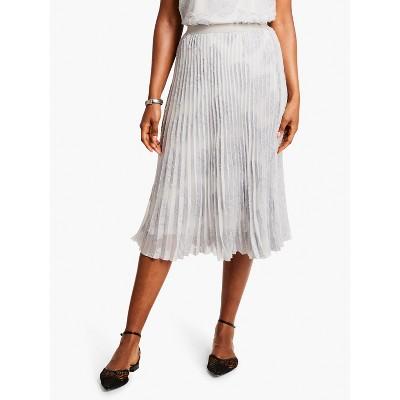 NIC+ZOE Women's Light As A Feather Skirt Pale Smoke