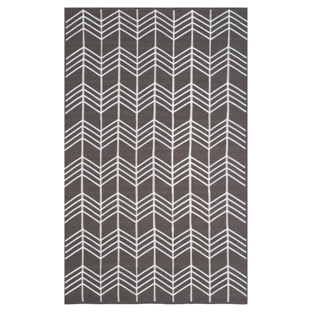 Kilim Rug - Charcoal (Grey) - (5'x8') - Safavieh