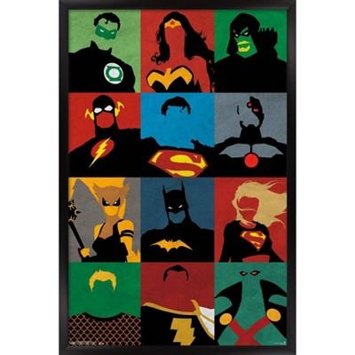 Justice League - Minimalist Framed Poster Trends International