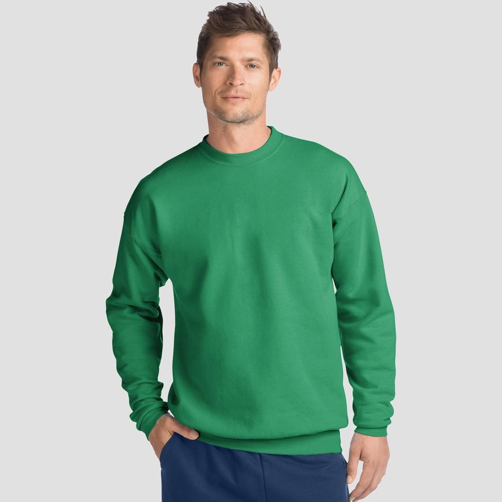 Hanes Men 39 S Big 38 Tall Long Sleeve 1901 Garment Dyed Pocket T Shirt Green 3xl