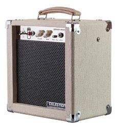 Monoprice 5-Watt 1x8 Guitar Combo Tube Amplifier - Tan/Beige with Celestion Super 8 Inch Speaker, 12AX7 Preamp, Versatile and Durable For All Electric