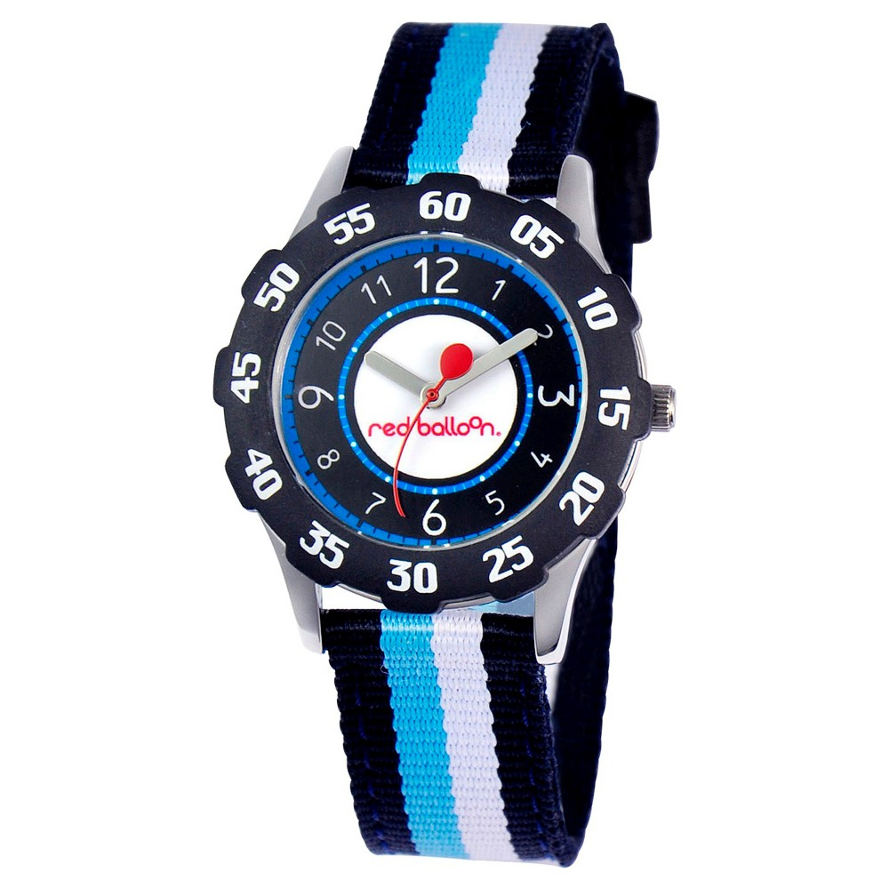 Boys' Red Balloon Sporty Stainless Steel with Bezel Watch, Multi-Colored