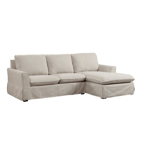 Mayfield Transitional Linen Like Fabric Sectional Beige - ioHOMES - image 1 of 3