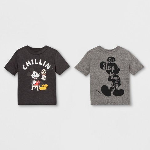 a7583f44670 Toddler Boys  2pk Disney Mickey Mouse   Friends Mickey Mouse Short Sleeve T- Shirts - Gray