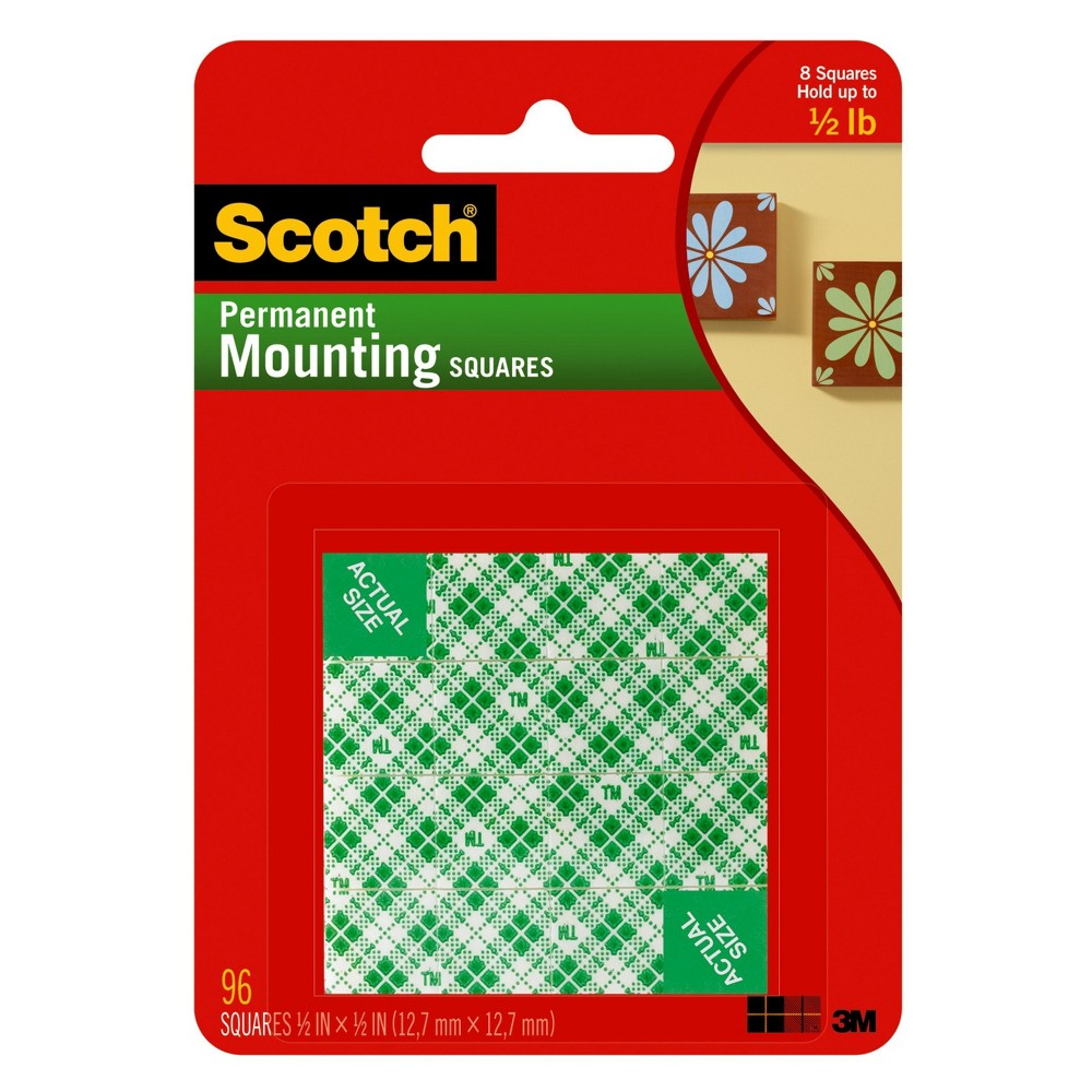 Scotch Permanent Mounting Squares 96-ct.