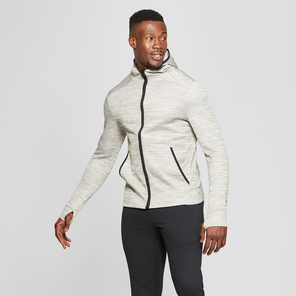 Men's Textured Fleece Full Zip Hoodie - C9 Champion Bleached Stone Cream L