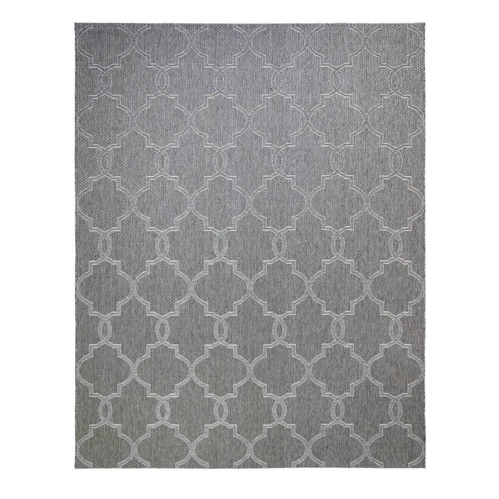 Image of 5'x7' Loire Pewter Outdoor Rug Gray - Studio by Brown Jordan