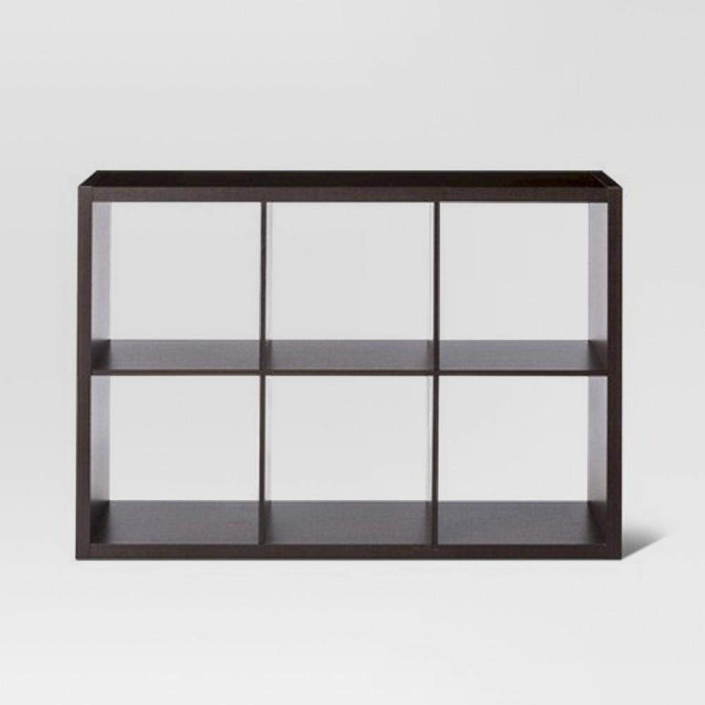 13 34 6 Cube Organizer Shelf Espresso Threshold 8482