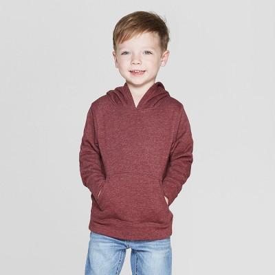 Toddler Boys' Fleece Hoodie Sweatshirt - Cat & Jack™ Crisp Berry 3T
