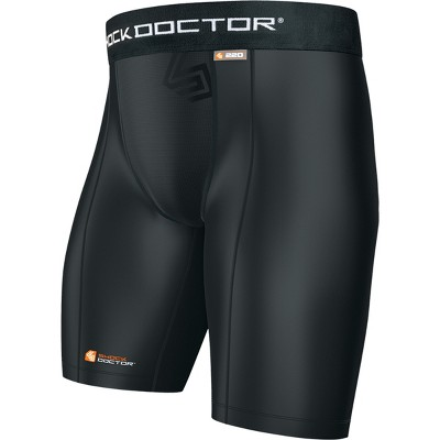 Shock Doctor Boy's Core Compression Shorts with Athletic Cup Pocket