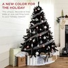 Best Choice Products 6ft Artificial Full Black Christmas Tree Holiday Decoration w/ 1,477 Branch Tips, Foldable Base - image 2 of 4