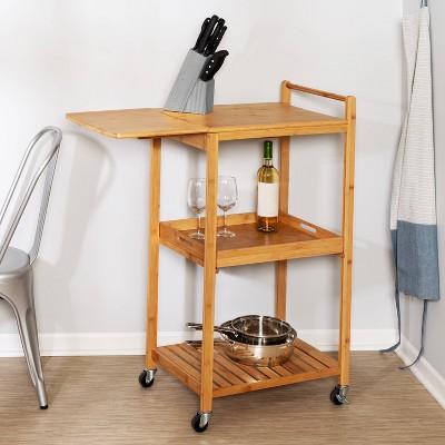 Honey-Can-Do Bamboo Kitchen Cart