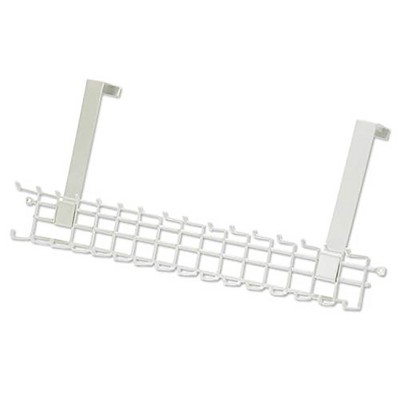 ClosetMaid Over the Door Durable Wire Rack with 16 Hooks for Men and Women Accessory Organizer, White