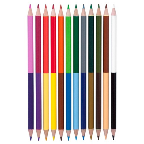 yoobi double ended colored pencils multicolor 12pk target