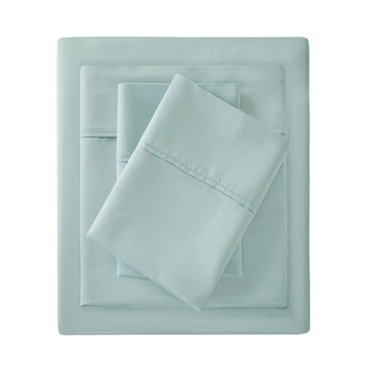 Queen 1500 Thread Count Cotton Rich Sheet Set Seafoam