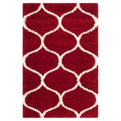 Red/Ivory Abstract Loomed Area Rug - (4'X6')- Safavieh