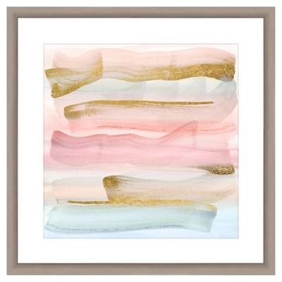 Pastel Paint Brushes Ii 18X18 Wall Art