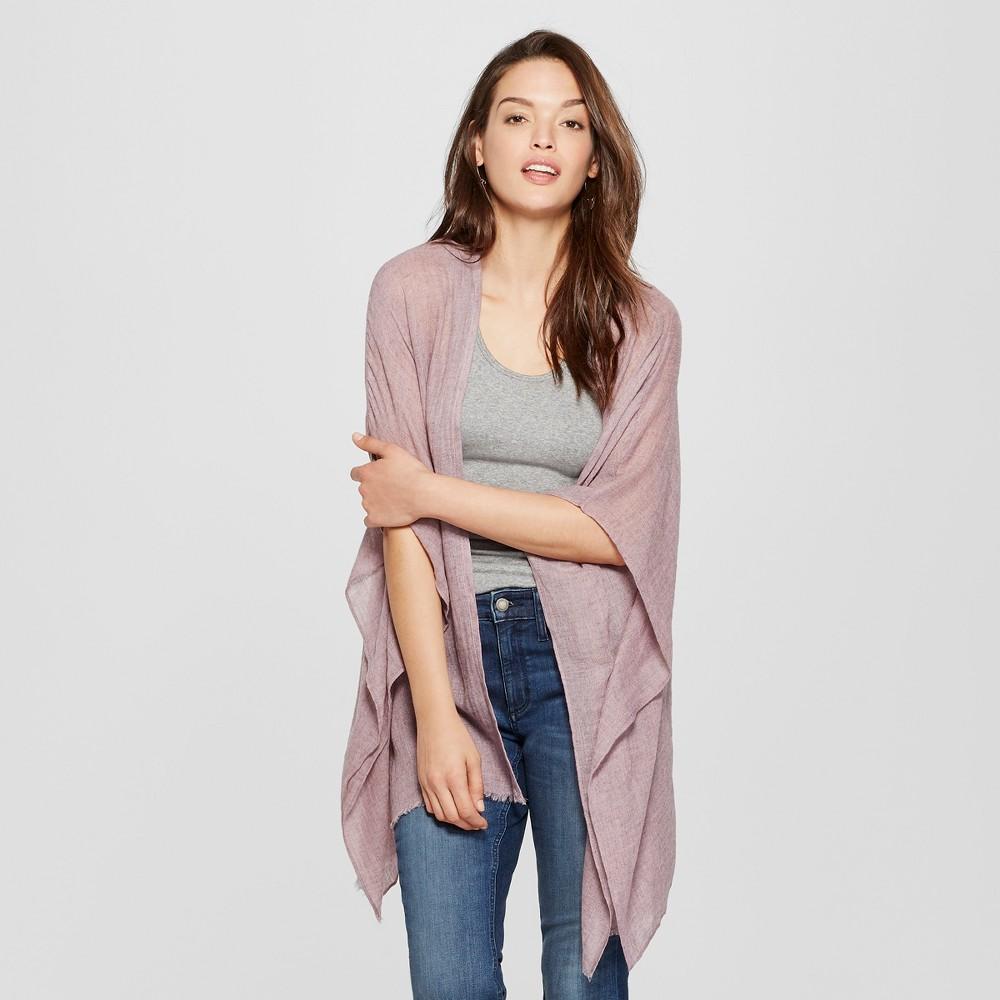 Women's Woven Ruana Poncho Sweater - Universal Thread Lilac (Purple)