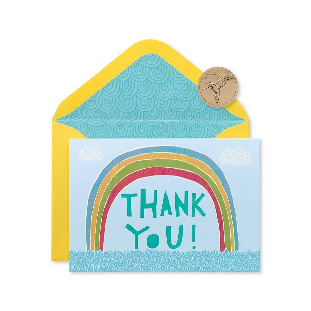 Image of 12ct Rainbow Thank You Boxed Blank Note Cards - PAPYRUS