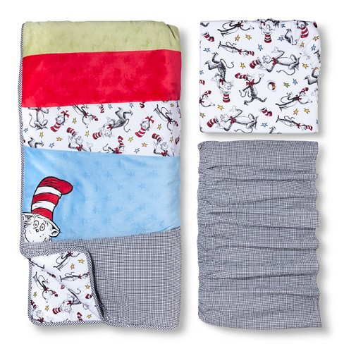 Dr. Seuss by Trend Lab 3pc Crib Bedding Set – Cat in the Hat - image 1 of 3