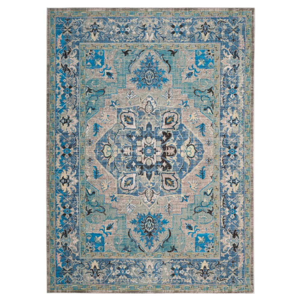 9'X12' Loomed Area Rug Blue/Light Gray - Safavieh