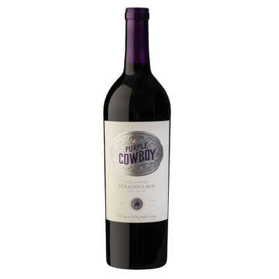 Purple Cowboy Tenacious Red Blend Wine - 750ml Bottle