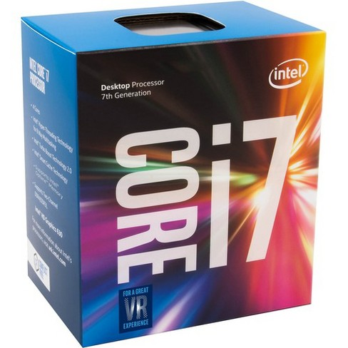 Intel Core i7-7700K Desktop Processor 4 Cores up to 4.5 GHz unlocked LGA 1151 100/200 Series 91W - image 1 of 1