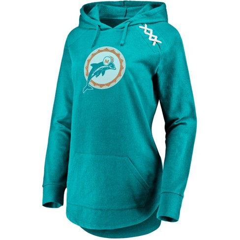 NFL Miami Dolphins Women's Leveraging Momentum Lightweight Hoodie - image 1 of 2
