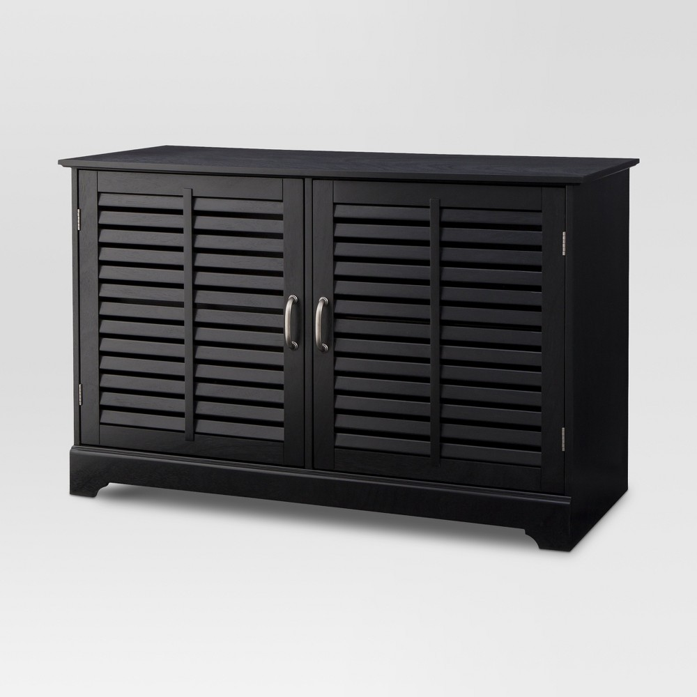 Shuttered Door TV Stand Black Finish - Threshold was $249.99 now $124.99 (50.0% off)