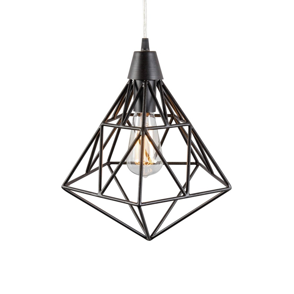 Facet 1 Light Pendant Forged Iron