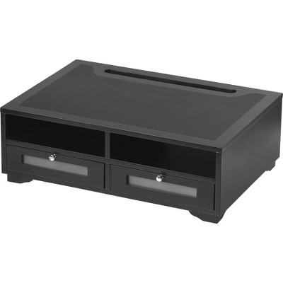 "Victor Wood Printer Stand 2 Drawer 21-4/5""x15-1/4""x8"" Midnight BK 11305"