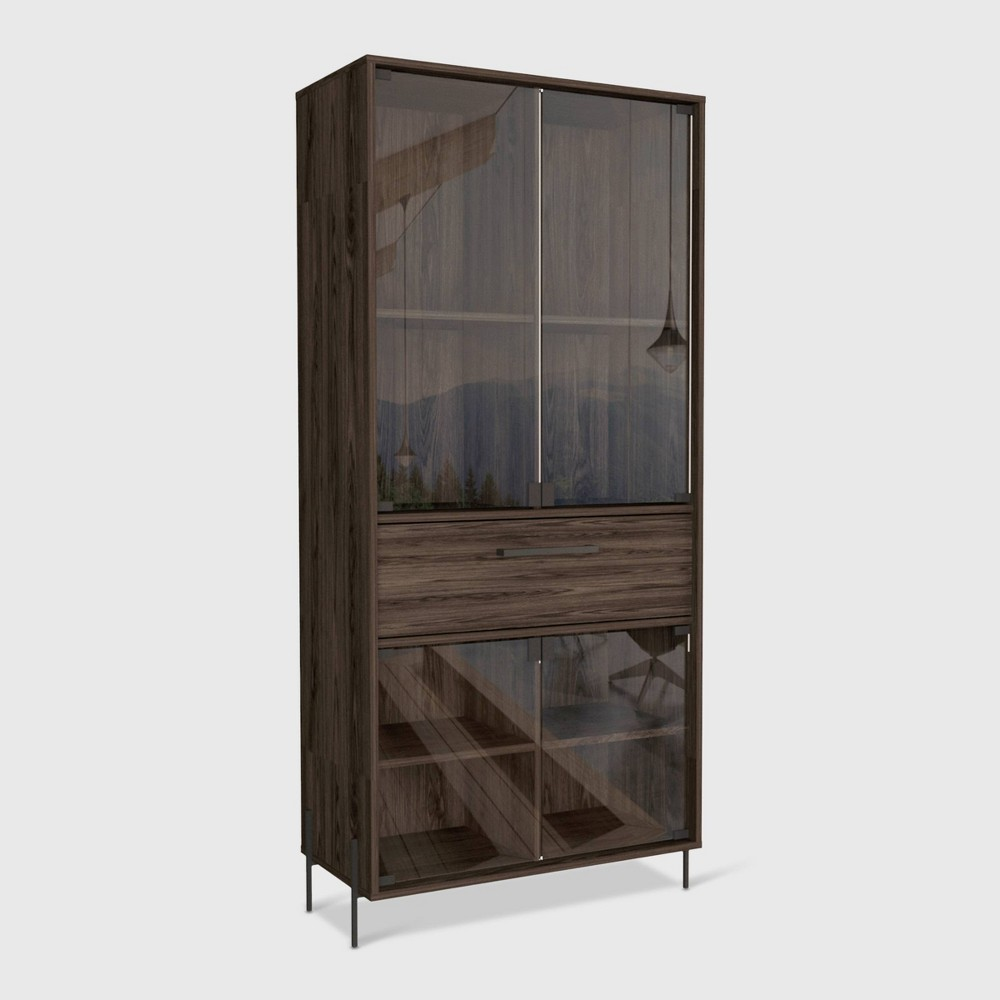 Page Pantry Cabinet Brown Rst Brands