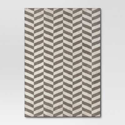 Herringbone Shag Area Rug 7'x10' Gray - Project 62™