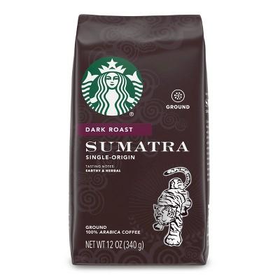 Starbucks Dark Roast Ground Coffee — Sumatra — 100% Arabica — 1 bag (12 oz.)