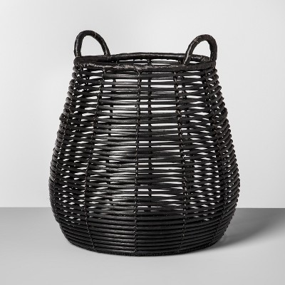 Rattan Basket Large - Black - Opalhouse™