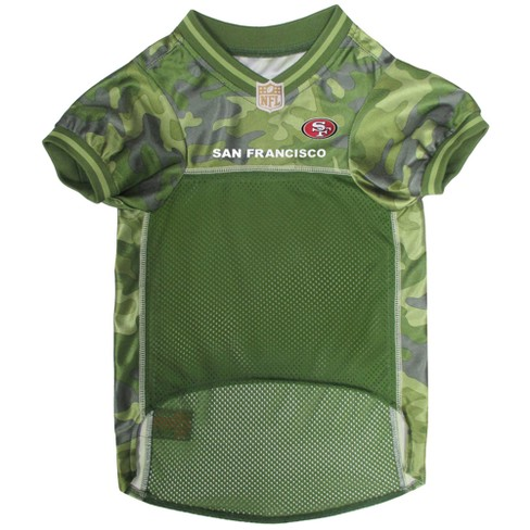 7ab085ae62e San Francisco 49ers Pets First Camo Pet Football Jersey - Camo XS ...