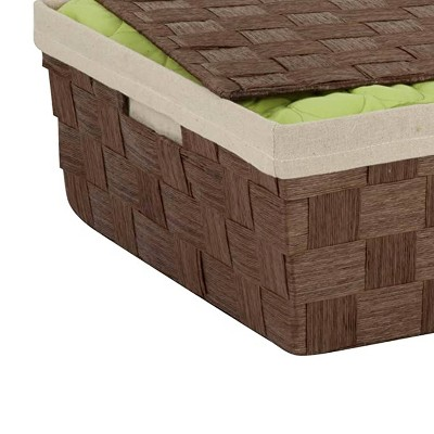 Honey-Can-Do Paper Rope Underbed Basket Brown