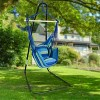 Hammock Chair With Stand Blue - Sorbus - image 2 of 2