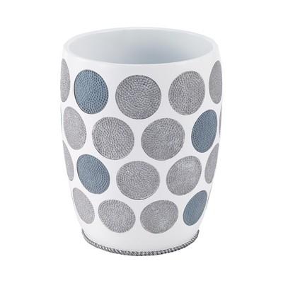 Avanti Dotted Circles Wastebasket - White
