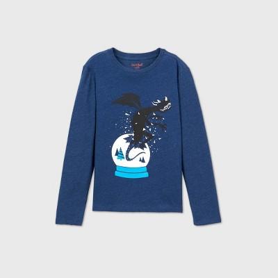 Boys' Dragon Graphic Long Sleeve T-Shirt - Cat & Jack™ Blue XXL