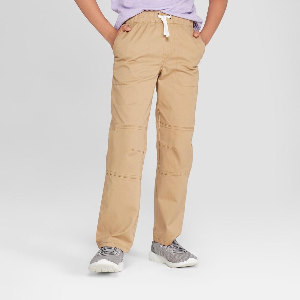 Boys' Pull-On Pants - Cat & Jack Light Brown 7 Slim