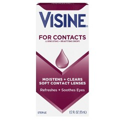 Visine for Contacts Sterile Lubricating & Rewetting Drops .5-oz.
