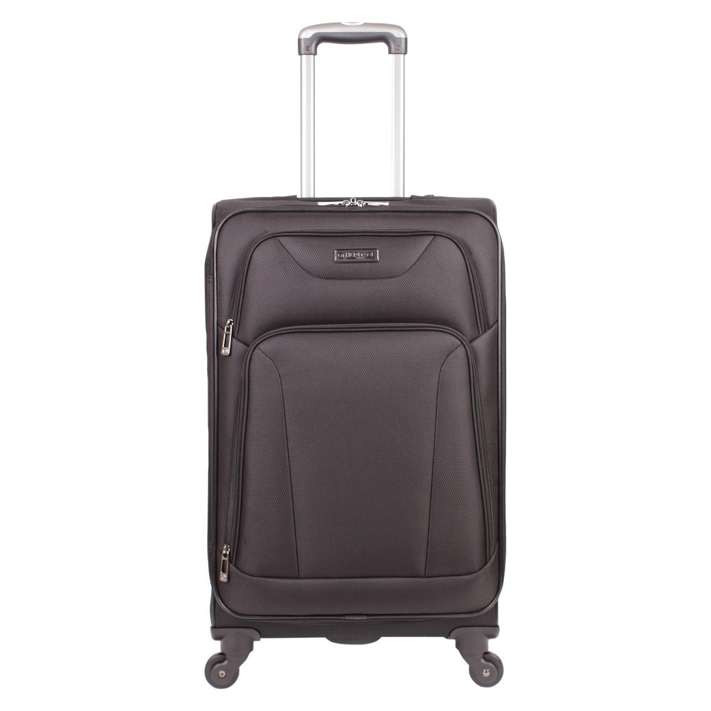 "Image of ""Heritage Wicker Park Polyester 4 Wheel Expandable Suitcase - Black (24"""")"""